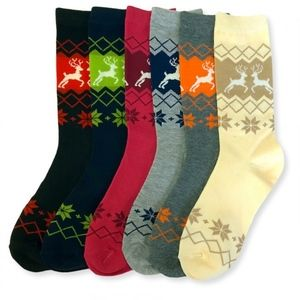 PACK OF 12 : Mid-Rise Socks Set 70501_ELK